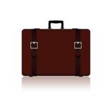 与传送带的旅行袋子在棕色颜色一变形 库存照片