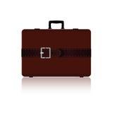 与传送带的旅行袋子在棕色颜色三变形 免版税库存照片