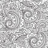与传统传染媒介东方花卉ornamen的无缝的样式 免版税图库摄影