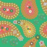 与传统部族文化的元素的无缝的纹理 多色 库存图片