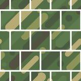 与伪装样式的无缝的传染媒介背景 军事颜色 颜色的绿色橄榄范围 库存照片