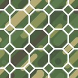 与伪装样式的无缝的传染媒介背景 军事颜色 颜色的绿色橄榄范围 免版税图库摄影