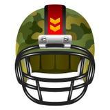 与伪装的橄榄球盔 免版税库存图片