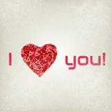 与低多心脏的愉快的情人节卡片 库存照片