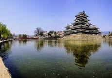 与佐仓开花,马塔莫罗斯,日本15的马塔莫罗斯城堡 库存照片