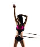 与体育箍的健身 免版税图库摄影