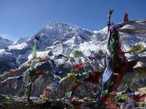与佛经的祷告旗子 库存照片