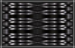 与作用metall的独特的样式 在框架的黑白图片 免版税库存照片