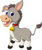 与佩带的响铃的滑稽的驴动画片 图库摄影