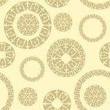 与俄国装饰品的元素的无缝的样式 免版税库存图片