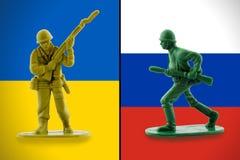 与俄罗斯的乌克兰冲突 免版税图库摄影