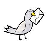 与信封的动画片鸽子 向量例证