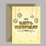 与信封的贺卡圣诞节的 库存图片