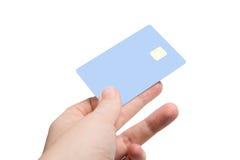 与信用卡的现有量 图库摄影