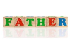 与信件的木立方体 免版税库存图片