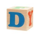 与信件的立方体 免版税库存照片