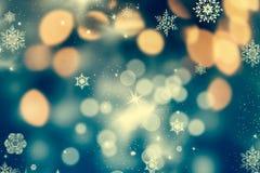 与假日光的抽象圣诞节背景 免版税图库摄影