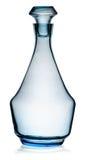 与停止者的蓝色玻璃水瓶 免版税库存图片