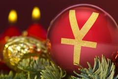 与元标志的金黄形状的红色中看不中用的物品 系列 免版税库存照片