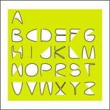 与元素夹子的字母表 免版税库存图片
