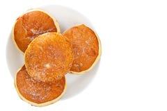 与充塞的可口开胃多福饼在板材 免版税库存图片