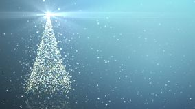 与光亮的光的圣诞树 股票录像