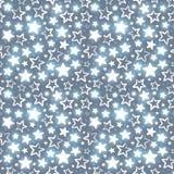 与光亮的星的无缝的样式 库存图片