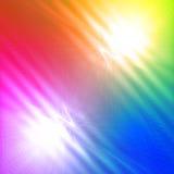 与光亮的线和波浪的抽象杂色的彩虹背景 免版税库存图片