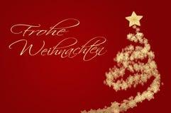 与光亮的雪花的圣诞节背景在圣诞树 库存图片