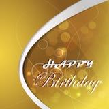 与光和泡影的生日快乐例证 免版税库存图片