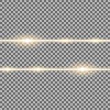 与光和火花,金黄颜色的两条线 向量例证