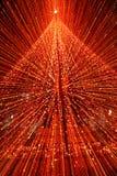 与光摘要的圣诞树 图库摄影