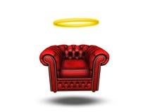 与光晕的舒适椅子 皇族释放例证