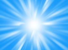 与光束的与蓝色颜色的背景图象和光芒 库存照片