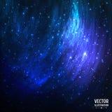 与光的五颜六色的宇宙空间星系背景 皇族释放例证