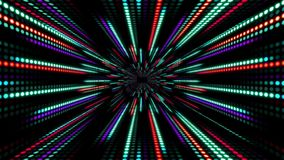 与光的动画慢动作的抽象技术背景镶边小点圈子红色紫色绿色 库存例证