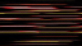 与光的动画慢动作的抽象技术背景镶边小点圈子红色黄色 向量例证