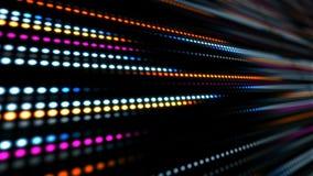 与光的动画慢动作的抽象技术背景镶边小点圈子蓝色桃红色 向量例证