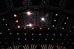 与光的天花板 免版税图库摄影