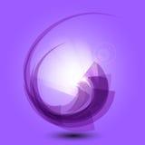 与光的抽象紫色背景 库存图片