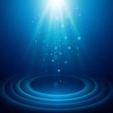 与光的背景 也corel凹道例证向量 库存照片