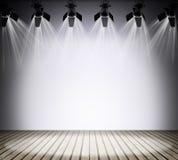 与光的被阐明的空的音乐会阶段 皇族释放例证