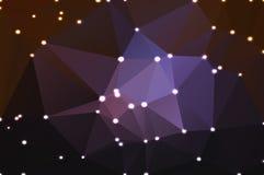 与光的紫色棕色黑几何背景 免版税库存图片