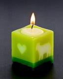 与光的Arometic蜡烛 免版税图库摄影