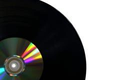 与光盘的唱片 免版税图库摄影