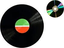与光盘的唱片 库存图片