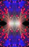与光纤的抽象图象 库存图片