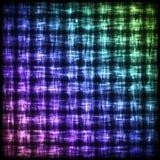 与光线影响的发光的方格的样式 免版税图库摄影
