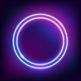 与光线影响的圆的边界 库存照片