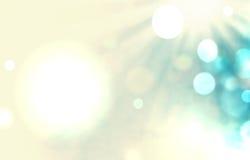 与光芒和bokeh例证软绵绵地蓝色抽象backgrou的太阳 库存图片